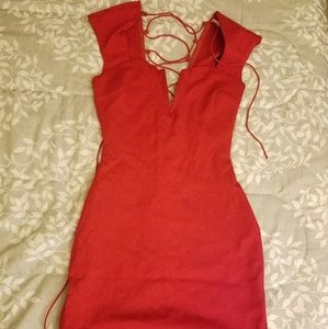 Red beautiful form fitting dress